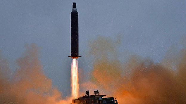 Undatierte Aufnahme einer nordkoreanischen Langstreckenrakete.