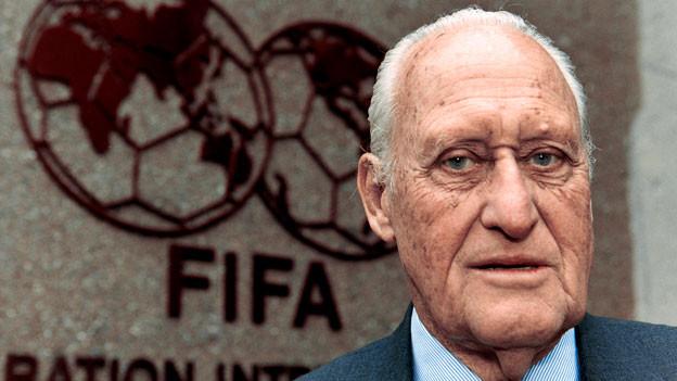 Joao Havelange, ehemaliger FIFA-Präsident, aufgenommen am 7. April 1998 in Zürich.