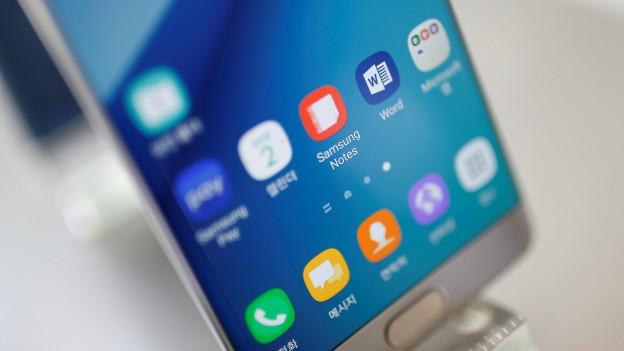 Das Display eines Samsung Smartphones.