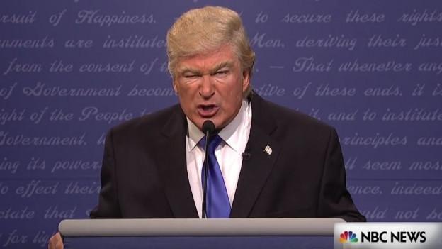Schauspieler Alec Baldwin macht den Donald Trump (Screenshot Saturday Night Live).