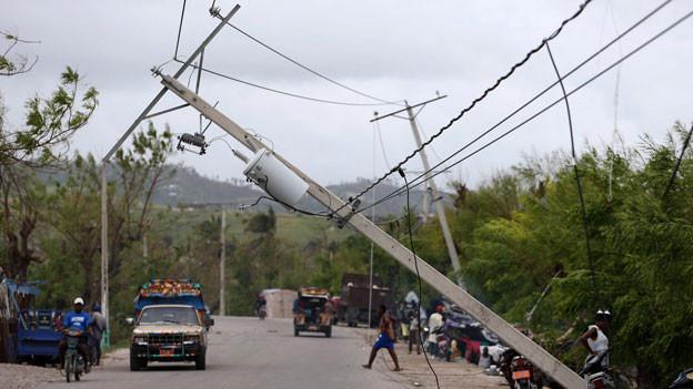 Mit Windgeschwindigkeiten von bis zu 215 Kilometern pro Stunde ist «Matthew» der stärkste Wirbelsturm seit mehr als zehn Jahren.