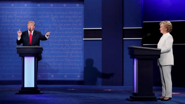 Der letzte Fight zwischen Clinton und Trump am US-Fernsehen.