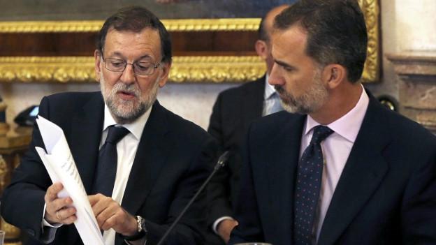 Spaniens Regierungs-Chef Rajoy bei König Felipe