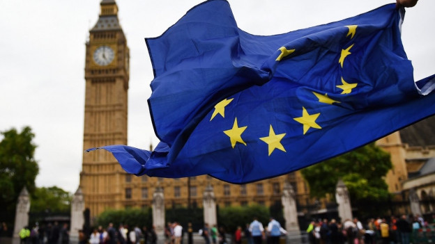 Immer mehr Spitzenleute an britischen Universitäten kehren Grossbritannien den Rücken. Das Bild zeigt einen Protest gegen den Brexit vor dem Parlament in London am 5. September 2016.