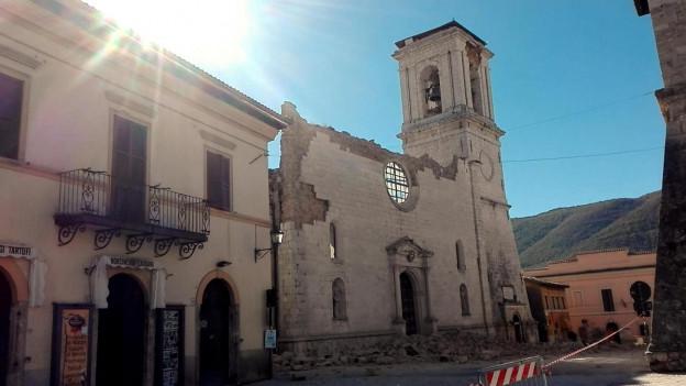 Neue, grosse Zerstörung - hier in Norcia, in Mittelitalien.