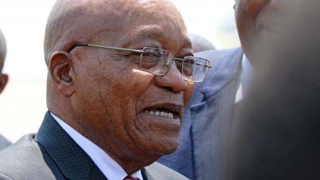Nahaufnahme Jacob Zuma anfang November in Harare.