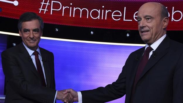 François Fillon und Alain Juppé wollen beide Präsidentschaftskandidaten der französischen Konservativen werden.