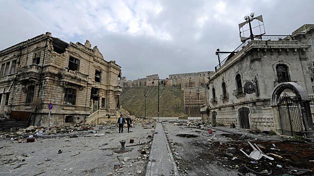 In der Nähe des historischen Stadtzentrums von Aleppo.
