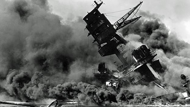 Der Angriff auf Pearl Harbor am 7. Dezember 1941.