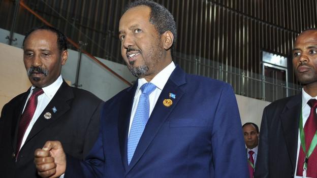 Der somalische Präsident Hassan Sheikh Mohamud.