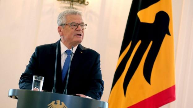 Joachim Gauck erläutert seinen Verzicht auf eine zweite Amtszeit.