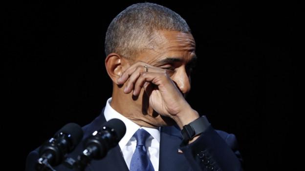 Emotionale Abschiedsrede von Noch-US-Präsident Obama.