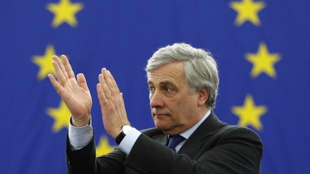 Der neue EU-Parlamentspräsident Tajani.