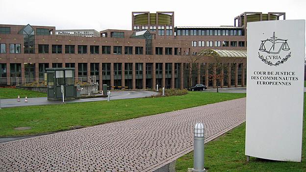 Blick auf den Europäischen Gerichtshof in Luxemburg.