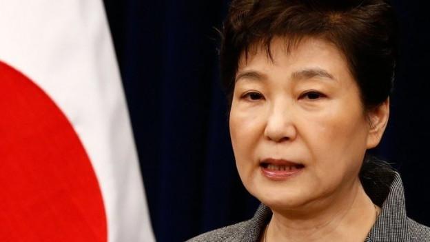 Die südkoreanische Präsidentin Park Gun Hye.