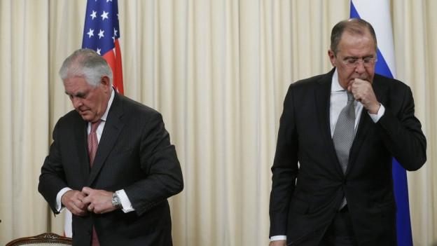 Rex Tillerson (l.) und sein russischer Amtskollege Sergei Lawrow.
