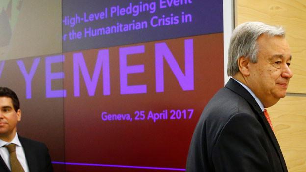 UNO-Generalsekretär Antonio Guterres kritisiert, die Welt schaue zu, wie eine ganze Generation ausgehungert werde.