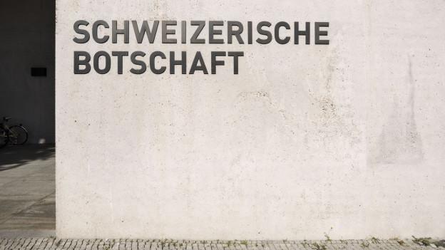 Die Schweizerische Botschaft in Berlin.