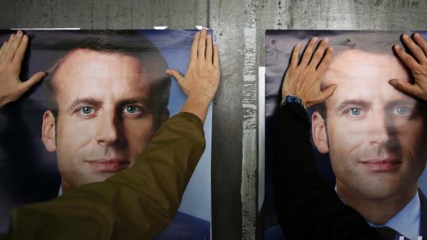 Hackerangriff auf den Präsidentschaftskandidaten Emmanuel Macron.