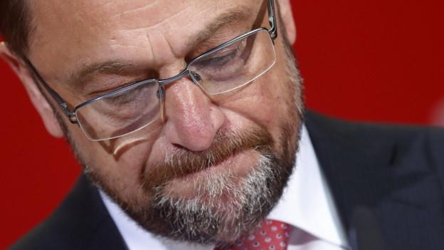 Kanzlerkandidat Martin Schulz mit ernster Mine.