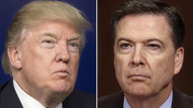 Haben unterschiedliche Erinnerungen an ein Gespräch: Der amerikanische Präsident Donald Trump (links) und der ehemalige FBI-Chef James Comey (rechts).