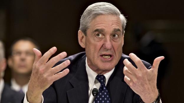 Robert Mueller erklärt sich im Capitol in Washington.