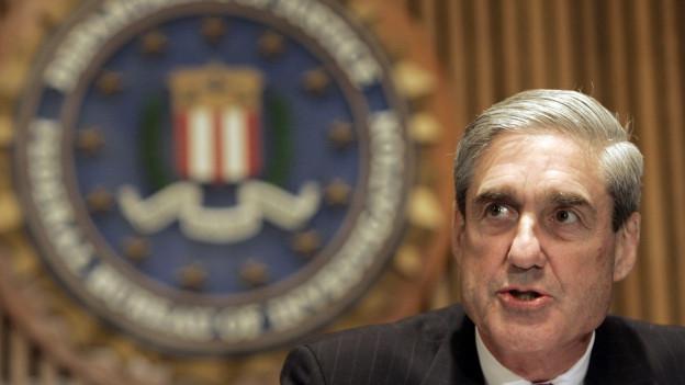 Ex-FBI-Direktor und jetzt Sonderermittler Robert Müller im FBI-Hauptquartier in Washington.