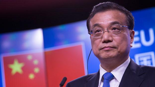 Chinas Premier Li Keqiang beim Gipfeltreffen in Brüssel.