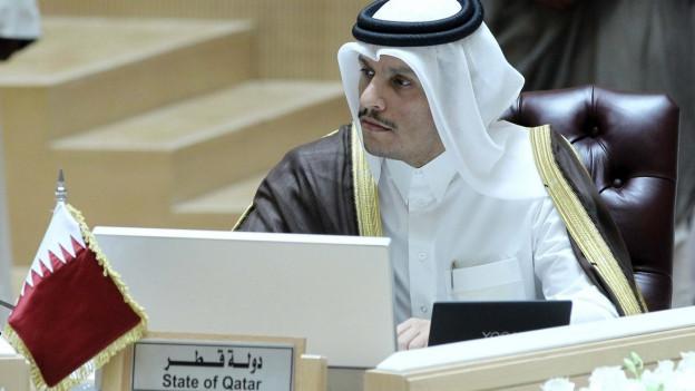 Unter Druck: Katars Aussenminister Mohammed bin Abdulrahman Al-Thani