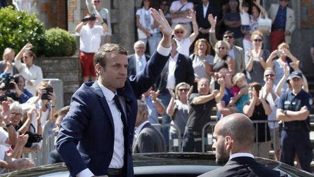 Emmanuel Macron gewinnt auch die Parlamentswahlen in Frankreich.
