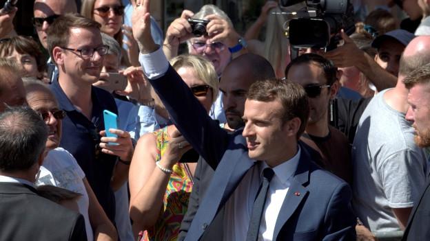 Er ist in Frankreich der Mann der Stunde: Präsident Emmanuel Macron.