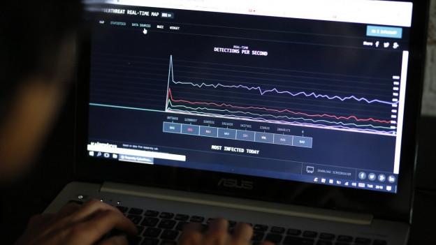 Nichts geht mehr: Ein Hacker-Angriff führt weltweit zu Computerproblemen.