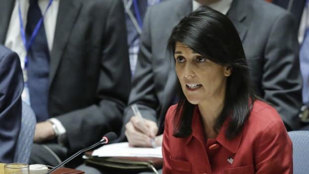 US-Botschafterin Nikki Haley im Bild.