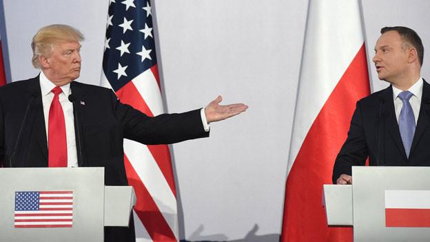 US Präsident Donald J. Trump und Polens Präsident Andrzej Duda.