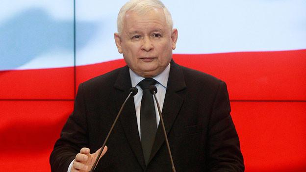 Jaros?aw Kaczy?ski, Parteichef der nationalistischen PiS in Polen.