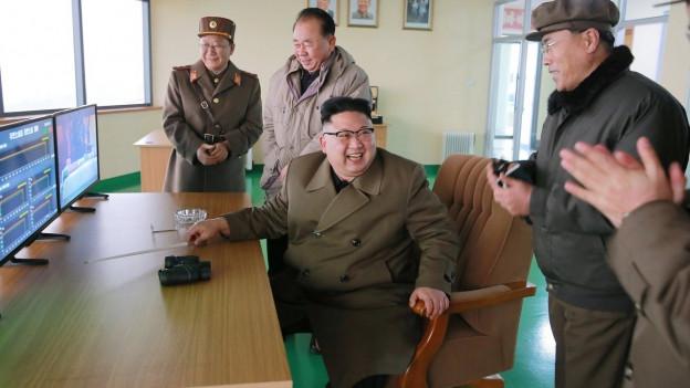 Das Bild zeigt Nordkoreas Machthaber Kimg Jong Un auf einem Bild vom März 2017.