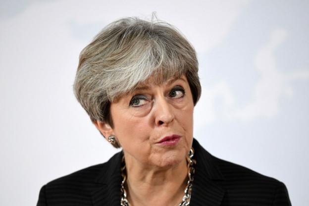 Die britische Premierministerin Minister Theresa May spricht in Florenz, Italien, am  22. September 2017.