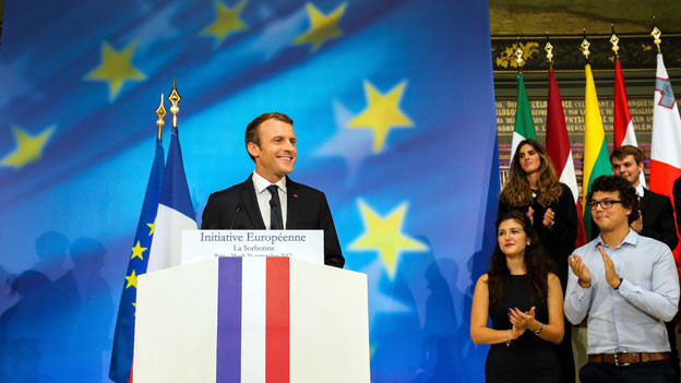 Frankreichs Präsident Emmanuel Macron bemängelt, derzeit sei die EU «zu langsam, zu schwach, zu ineffizient».