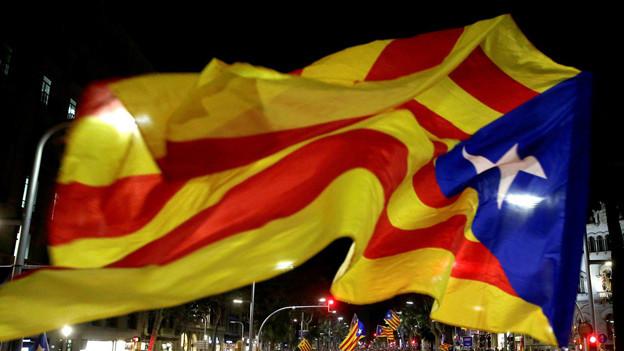 Katalanische Fahne.