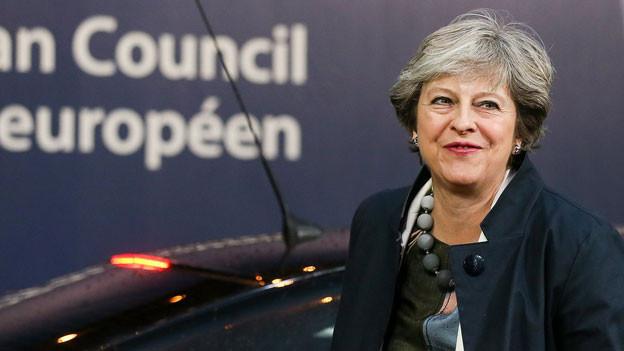 Die britische Premierministerin Theresa May am EU-Gipfel in Brüssel.