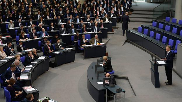 Blick in den Deutschen Bundestag anlässlich der ersten Sitzung des neuen Parlaments am 24. Oktober 2017.