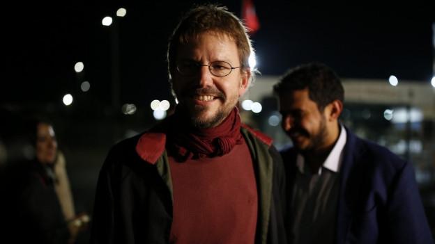 Aktivist Peter Steudtner freut sich über die Freilassung aus der Untersuchungshaft.