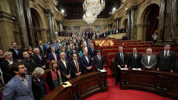 Abgeordnete im Parlament von Katalonien.