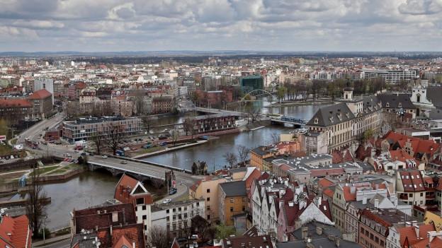 Polen, Breslau von oben.