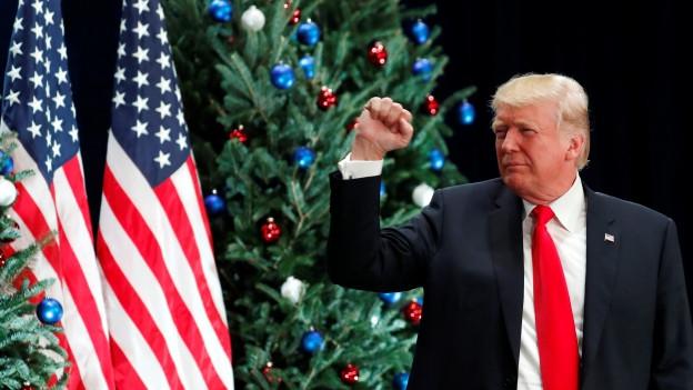 Erfolg für US-Präsident Trump: Senat sagt Ja zur Steuerreform.