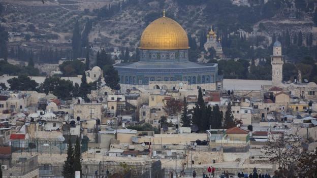 Blick auf die Altstadt von Jerusalem am 5. Dezember 2017.