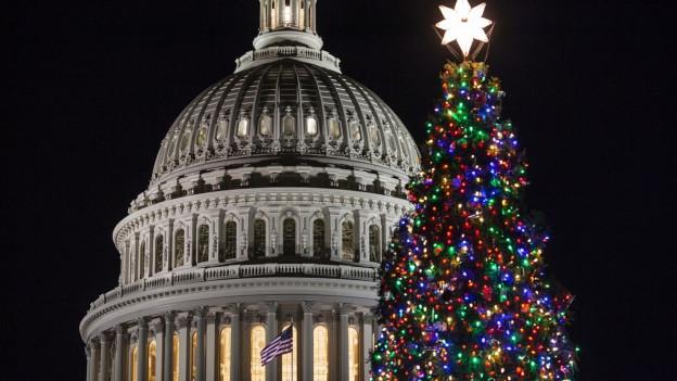 Weihnachtsbaum neben dem US-Capitol in Washington