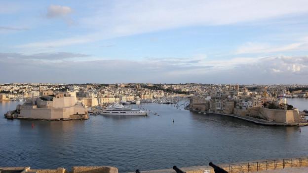 Ein Panoramablick auf den Hafen von Valletta.
