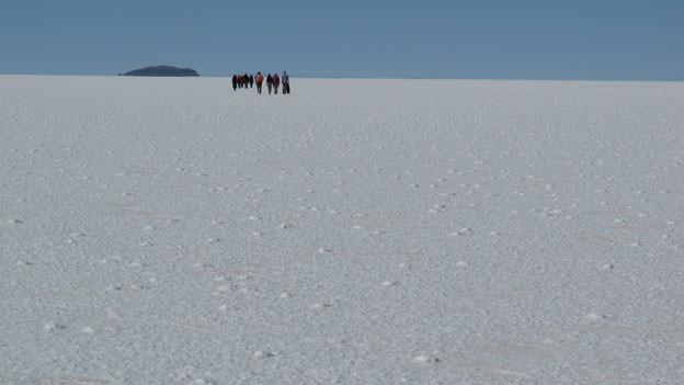 Kostbare Kruste: Im Salzsee Salar de Uyuni ist das Lithium gelöst.