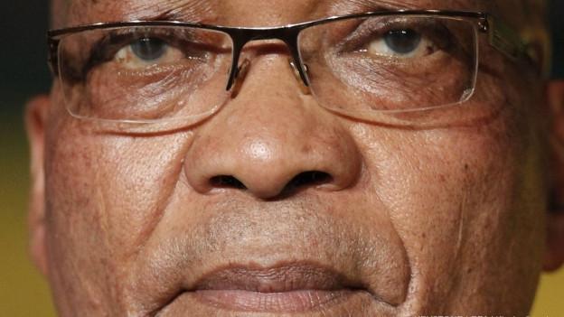 Südafrikas Präsident Jacob Zuma in Nahaufnahme. Seine Tage im Amt sind wohl gezählt.